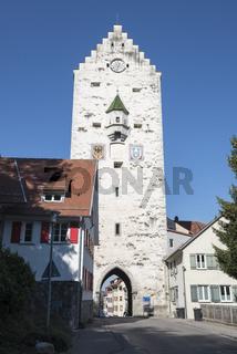 Das obere Stadttor in der Altstadt von Ravensburg