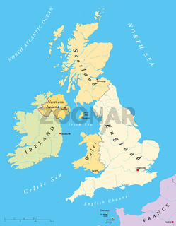 Britische Inseln Landkarte