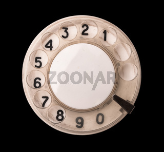 Rotary phone dial
