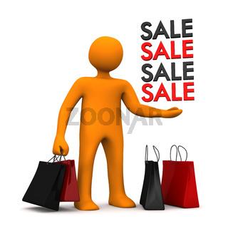 Manikin Shopping Bags Sale