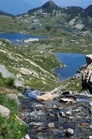 Creek and Lakes of the Rila Mountains