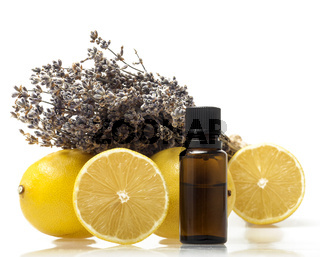 Lemon and lavender essential oil