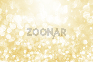 Gold festive glitter background.