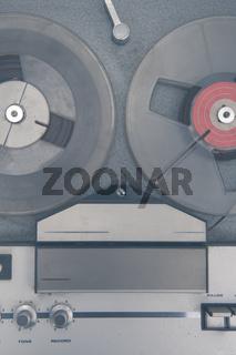 Vintage audio tape music recorder