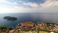 City near sea