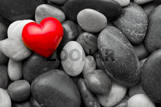 red stone heart