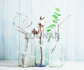 Composition with decorative branches