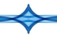 Abstract Symmetry Swirl Blue background