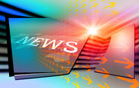 Graphical modern digital world news background3