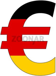 euro with flag of germany