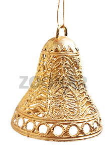Christmas gold bell