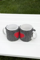 mug warmer on a table in a garden