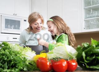 girls on kitchen