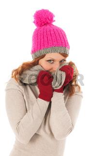 Woman portrait winter fashion