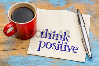 think positive - napkin concept