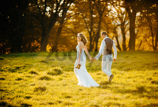 beautiful couple walking
