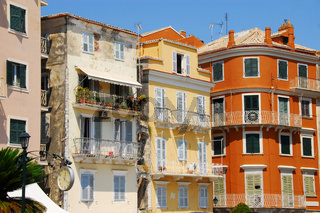 Colorful buildings in Greece