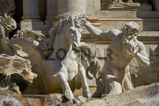 Statue of the Trevi Fountain in Rome Italy