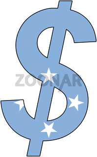 dollar - flag of federated states of micronesia
