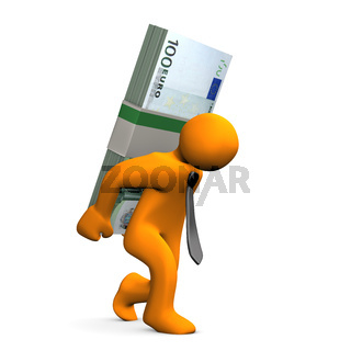 Manikin Euro Notes Burden