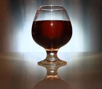 wineglass of alcoholic beverage