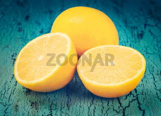 Lemon and cut half slices