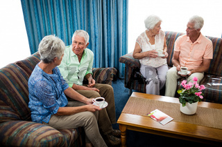 Group of seniors interacting
