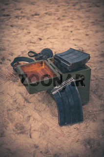 Open ammunition box