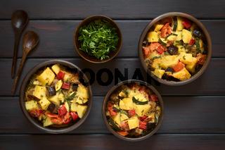 Potato, Eggplant, Zucchini, Tomato Casserole