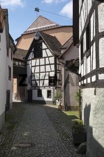 Historische Fachwerkhäuser in der Altstadt von Staufen
