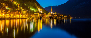 Hallstatt village night