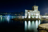 Nightview on the castle on the sea