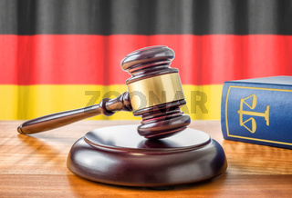 A gavel and a law book - Germany