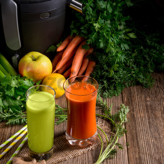 Freshly squeezed vegetable juices