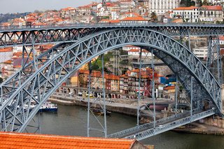 Ponte Luiz I Bridge and Old Town of Porto