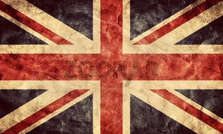 The United Kingdom or Union Jack grunge flag. Vintage