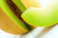 Melon honeydew and melon slice