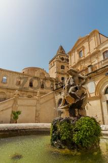 Brunnen Noto Sizilien Barock