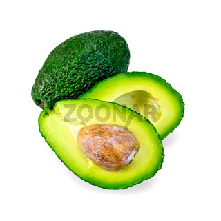 Avocado with bone