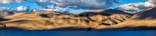 Lake Tso Moriri in Himalayas. Ladakh, India