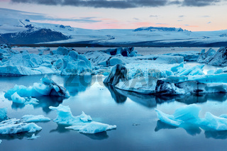 Die Jokulsarlon Gletscherlagune in Island