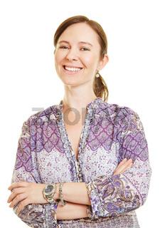 Lächelnde attraktive Frau