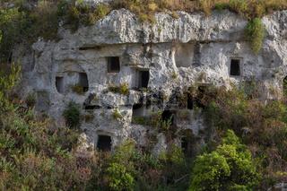 Nekropolis Pantalica Grabkammer Fels