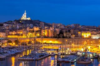 Marseille France night