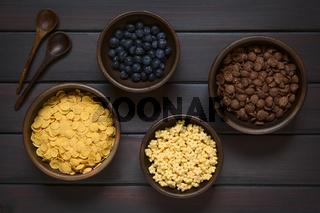 Breakfast Cereals with Blueberries