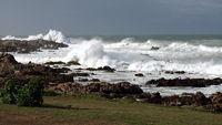 Wild sea waves