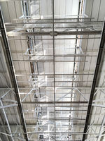 metal industrial roof structure background
