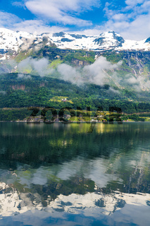 View On Norway Mountain Landscape