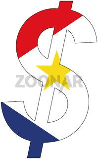 dollar - flag of saba