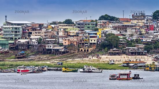 River Houses On Stilts Manaus Brazil